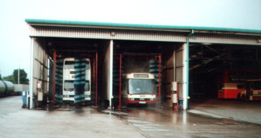 Buses being washed July 2000 (23624 bytes)